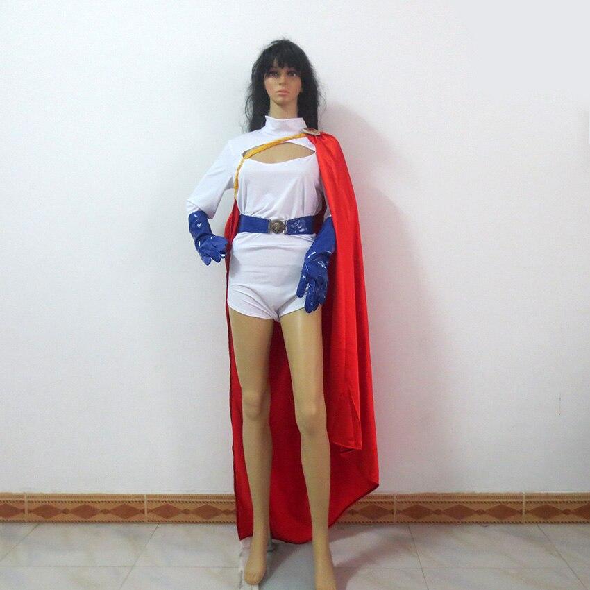 Power Girl mujer superhéroe Zentai Catsuit PowerGirl fiesta de Navidad Halloween uniforme traje Cosplay disfraz personalizar cualquier tamaño