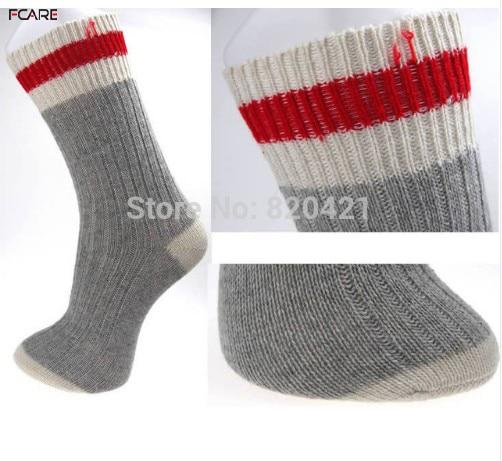 Fcare 5 pares = 10 piezas meias calcetines hombres gruesos calientes de lana de talla grande calcetines de moda meias calcetines de lana calentador de pierna halloween