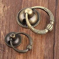 antique bronze metal kitchen drawer cabinet door handle furniture knobs hardware cupboard antique brass ring pull handles