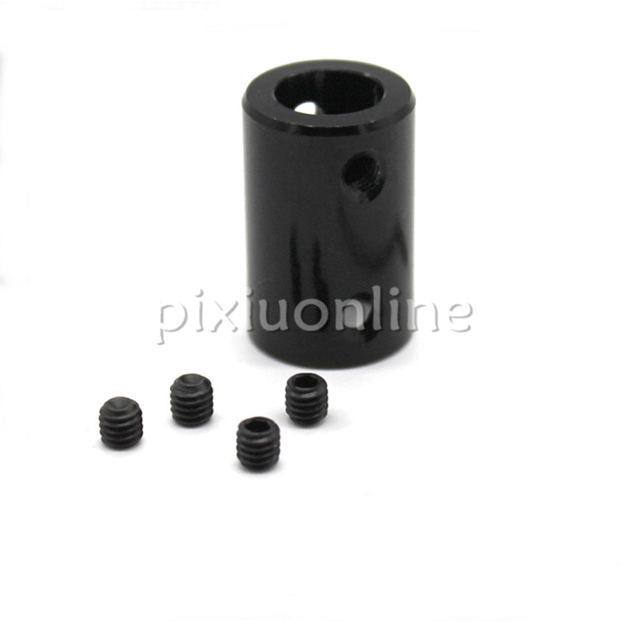 6-12mm/10-12mm/12-12mm Padrão 16*20mm Preto Modelo Do Carro Da Liga de alumínio Peças de Acoplamento Do Eixo Acoplador Europa Venda em uma Perda