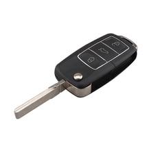 For 1K0959753G 434.4Mhz 3 Buttons Remote Flip Key For VW SEAT Altea Leon Toledo For SKODA Octavia 2004-2010 Car key+ID48 chip