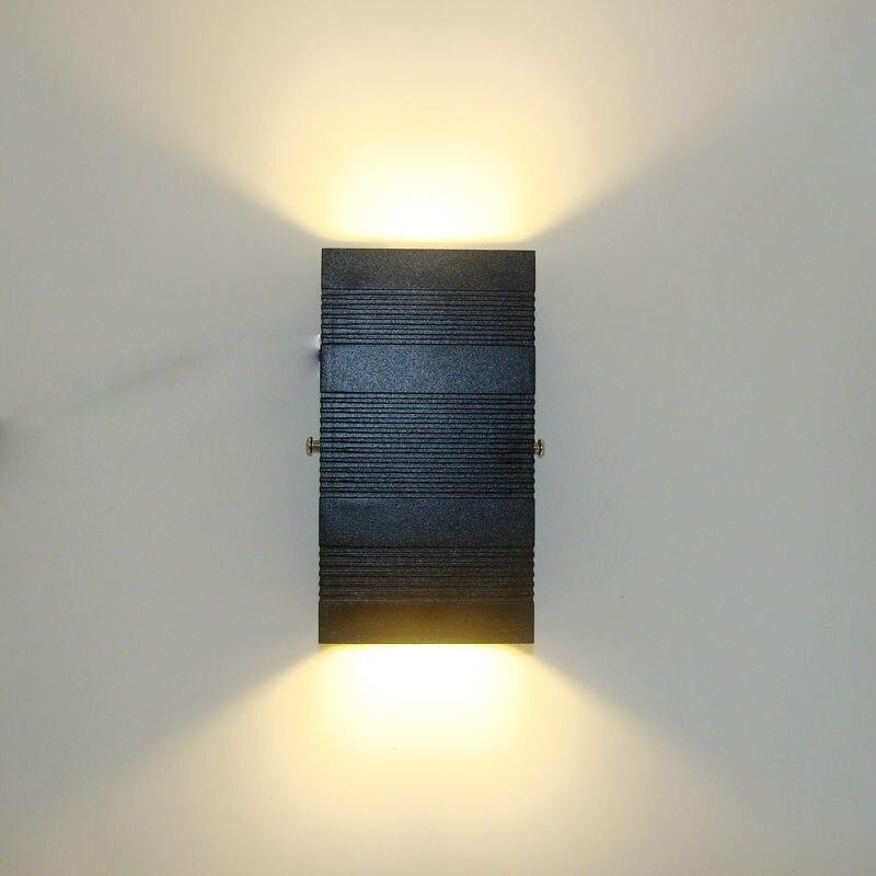 moderno led lampada de parede ao ar livre varanda luz cob 6w ip65 a prova dwaterproof