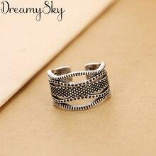 Nouvelle mode bohème couleur argent grands anneaux pour femmes filles cadeau Vintage grande bague de fiançailles Anillos Anelli