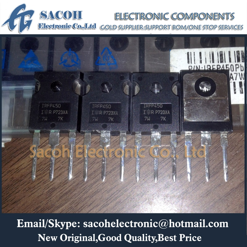 Envío gratis 10 Uds IRFP450 IRFP450A IRFP450N IRFP450LC IRFP450R-450 a-247 14A 500V transistor MOSFET