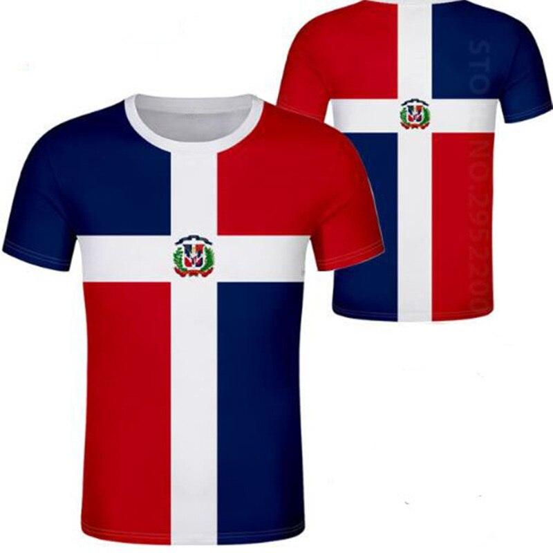 Camiseta informal DOMINICA para Hombres Jóvenes con nombre personalizado gratuito, bandera de la nación dma, Dominicana española, República Dominicana, impresión fotográfica para niños