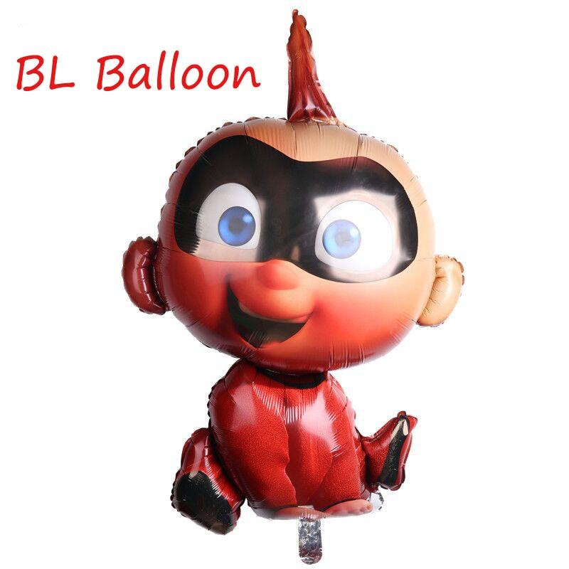 Jumbo 40 polegada incredibles 2 folha balão decorações de festa aniversário super herói mylar balão brinquedos para crianças globos