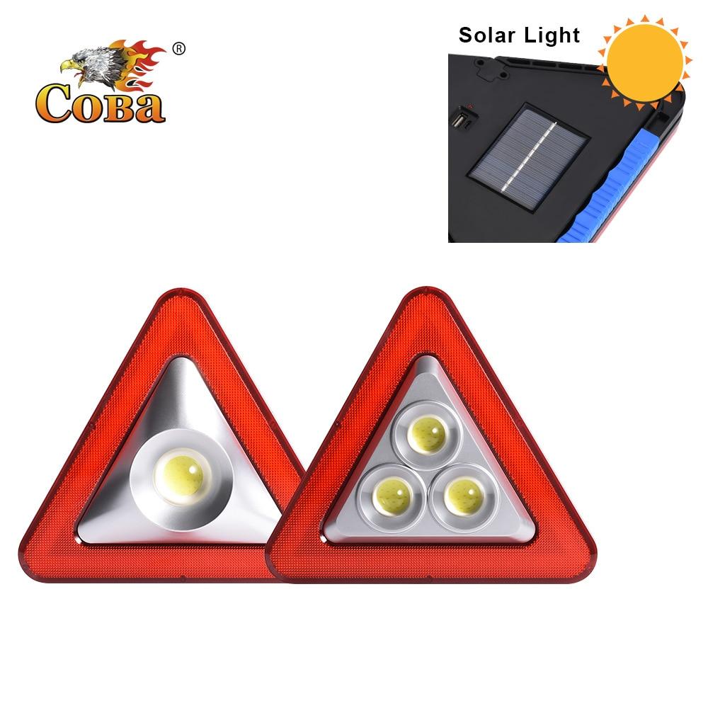 Coba cob solar work light power bank usb rechargeable portable light led work light 5 modes built-in battery waterproof plastic