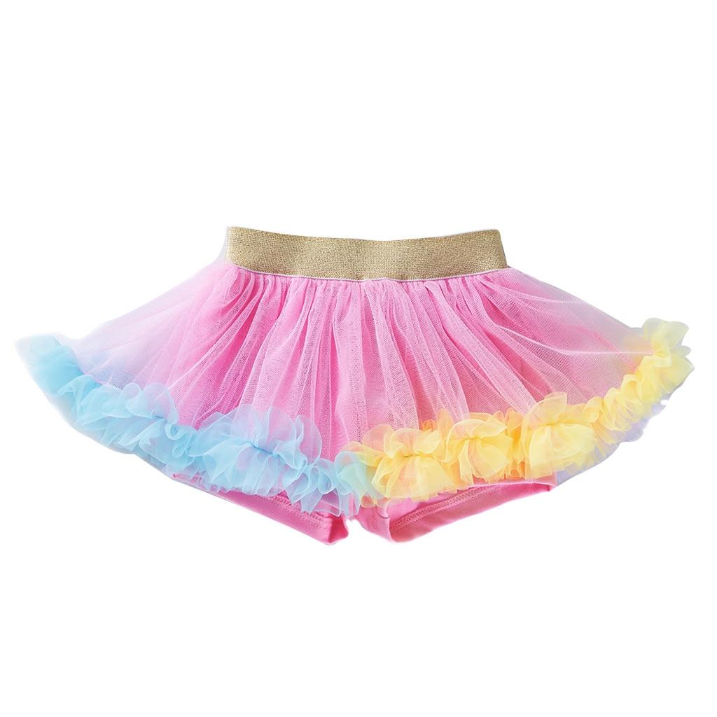 Skirt Fashion Girls Kids Baby Dance Simple Solid Elastic Sweet Tutu Skirt Pettiskirt Ballet Fancy Costume Korean Version подол