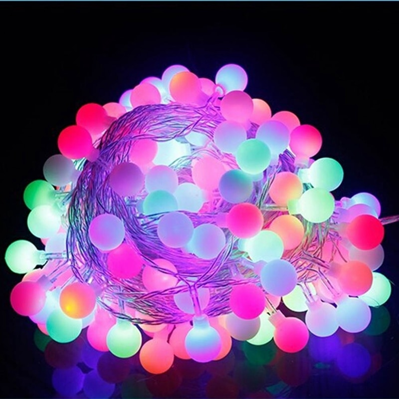 10m 70leds bola Led cadena luces 110 V/220 V cálido blanco Hada luz vacaciones Navidad LED Festival decoración lámpara