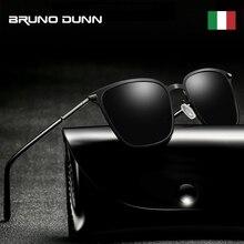 Bruno dunn polarizado óculos de sol dos homens retro para o sexo masculino óculos de sol polarizado de sol masculino ray alumínio 2020