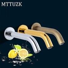 MTTUZK robinet à capteur automatique   En acier inoxydable, or/Chrome/Antique mural automatique, robinet de salle de bains, lavabo, robinet à infrarouge sans contact