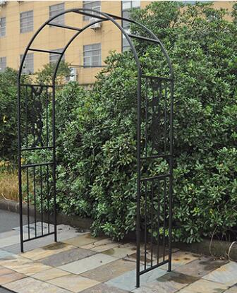 Garden iron art climbing pergola flower frame iron art flower piece arch art arch.