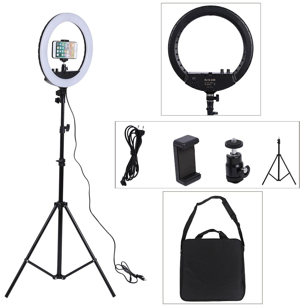 14 zoll Foto Studio beleuchtung LED Ring Licht 240 PCS 3200-5600 k Fotografie Dimmbare Ring Lampe Mit Stand für Porträt, make-up