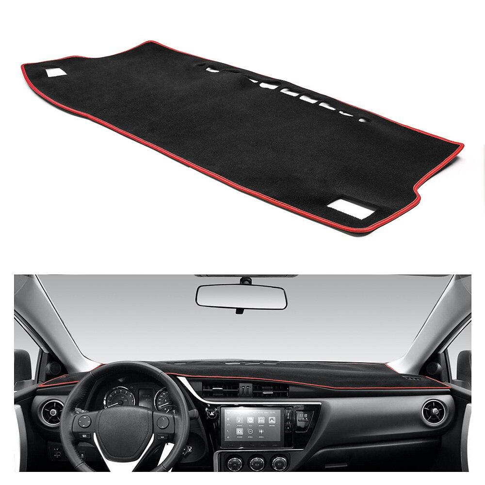 Cubierta del salpicadero del coche alfombrilla del salpicadero alfombrilla del tablero del salpicadero alfombra LHD para Toyota Corolla 2014 2015 2016 2017 2018
