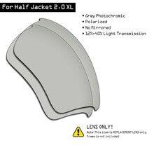 SmartVLT spolaryzowane okulary wymienne soczewki do Oakley Half Jacket 2.0 XL-szary fotochromowy