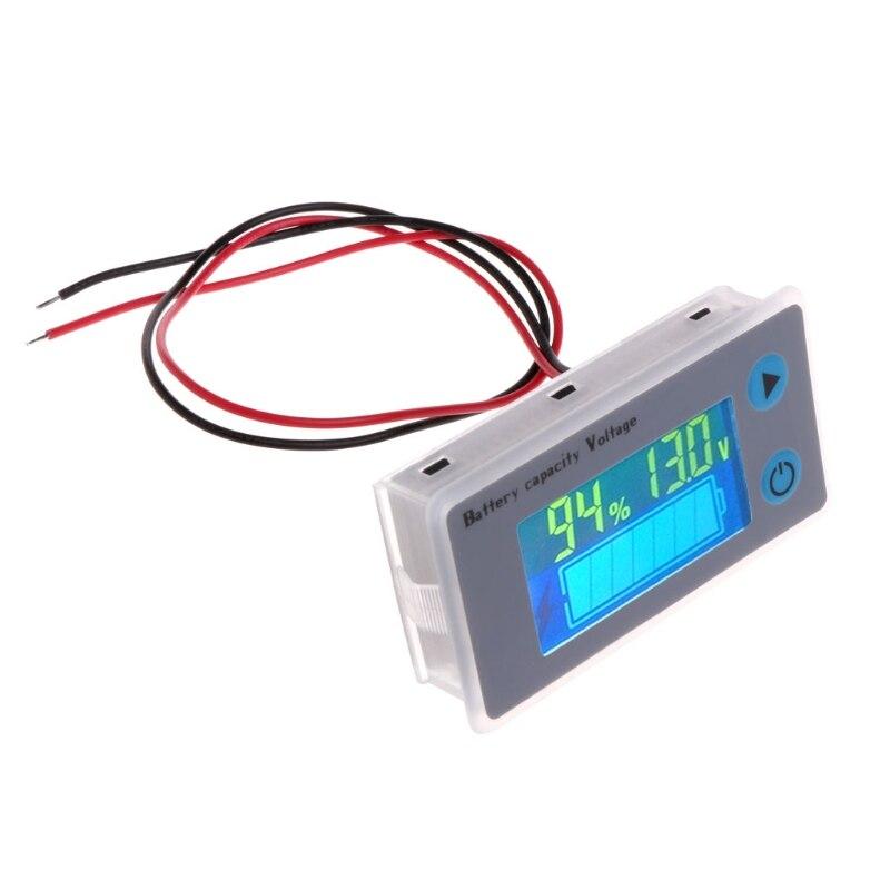 10-100V Universal Battery Capacity Voltmeter Tester LCD Car Acid Lead Lithium Battery Capacity Indicator