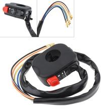 Interruptor para Faro de motocicleta, 12V, 7/8 , 22MM, negro, doble interruptor intermitente LED para motocicleta/moto