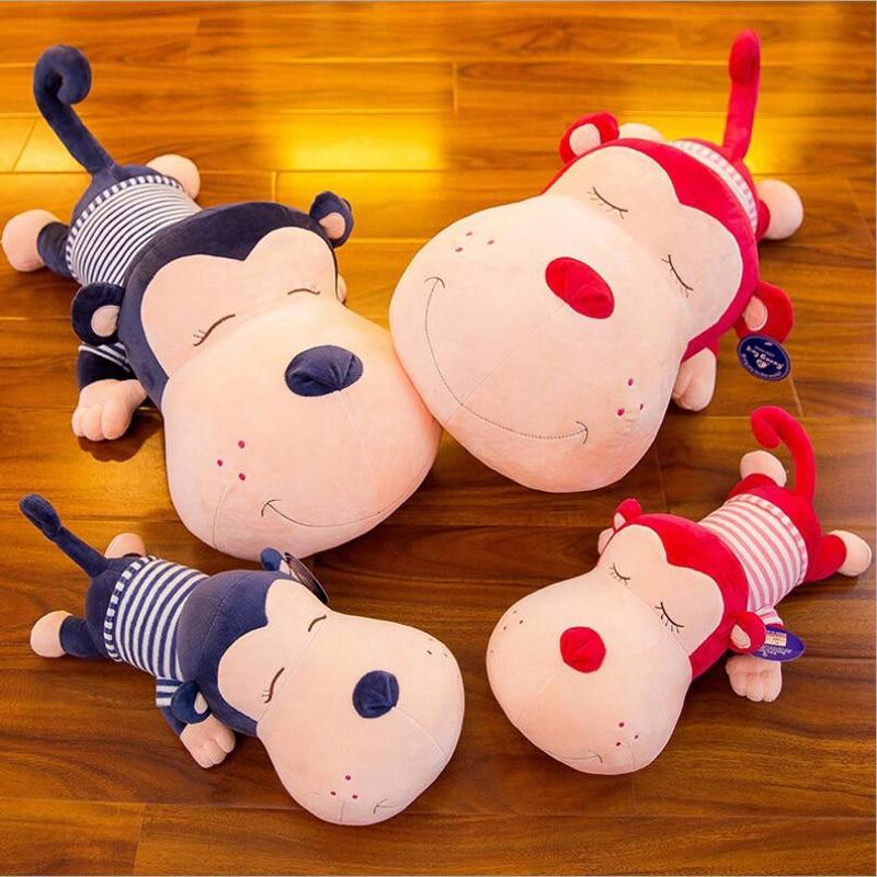 Lovely Wearing Clothe Monkey Plush Toy Stuffed Animal Plush Doll Children Birthday Christmas Gift