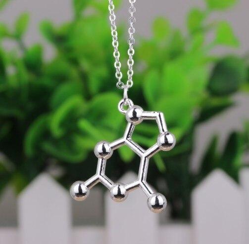 Joyería de moda N328, joyería de biología, joyería con tema de ciencia, guanina, par de bases de ADN, collar de molécula G