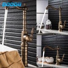 Robinet mitigeur deau chaude et froide   Robinet dévier de salle de bains, finition Bronze Antique, grue avec DOODII Pop-Up