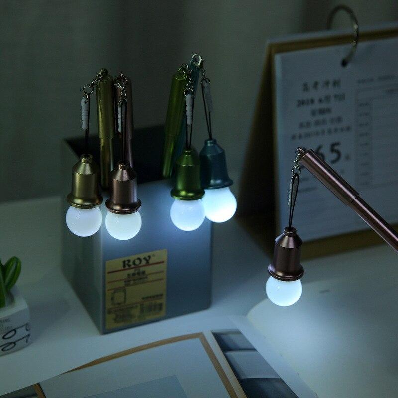 1 шт. мультяшная Милая креативная лампочка, моделирующая нейтральная ручка, школьные принадлежности для студентов, гелевая ручка с заглушкой от пыли, многофункциональные канцелярские принадлежности