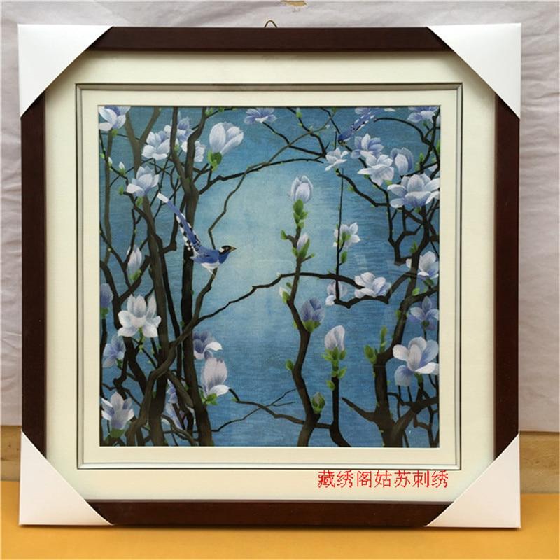 Suzhou bordado acabado producto pintura hecha a mano bordado decoración pinturas calidad bordado regalo