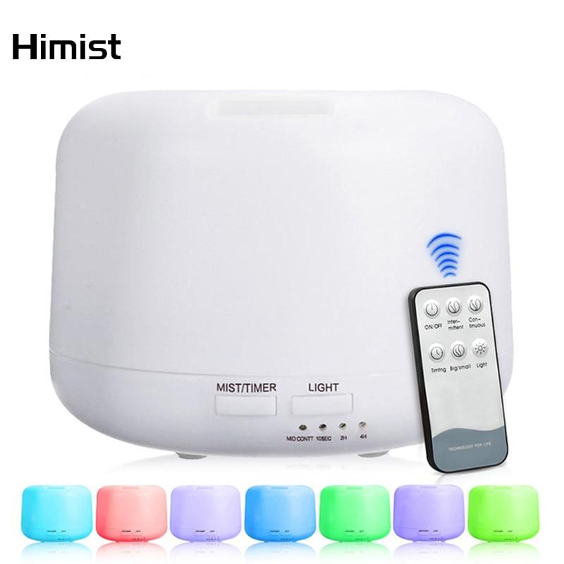 300 مللي فواحة تعمل بالزيت الهواء المرطب مع 7 أضواء ضوء متغير اللون للمنزل جهاز تكوين ضباب بالموجات فوق الصوتية diفوسور دي رائحة