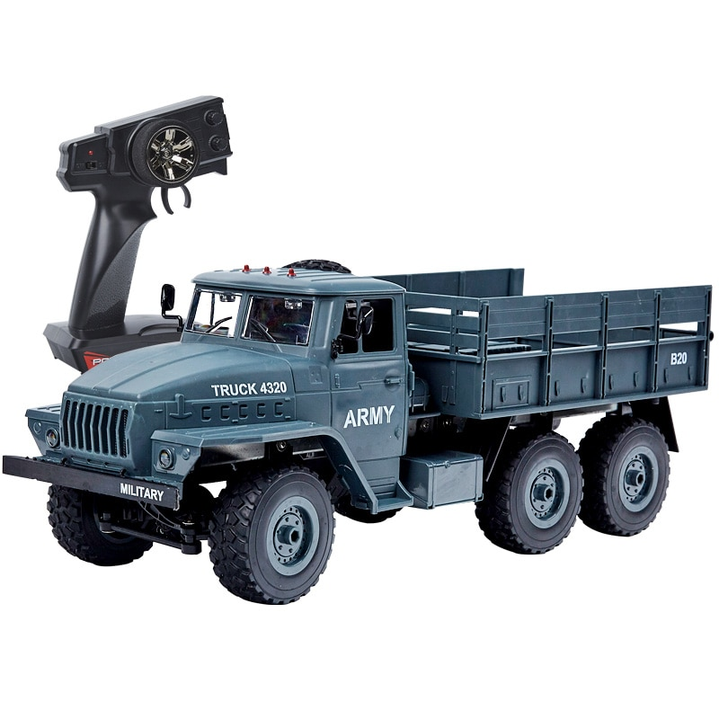YY2003 2.4G 1:12 Military Truck Off Road RC Car Crawler Toys Army Truck Six-wheel Drive Full Proportion RC Models For Kids Gift