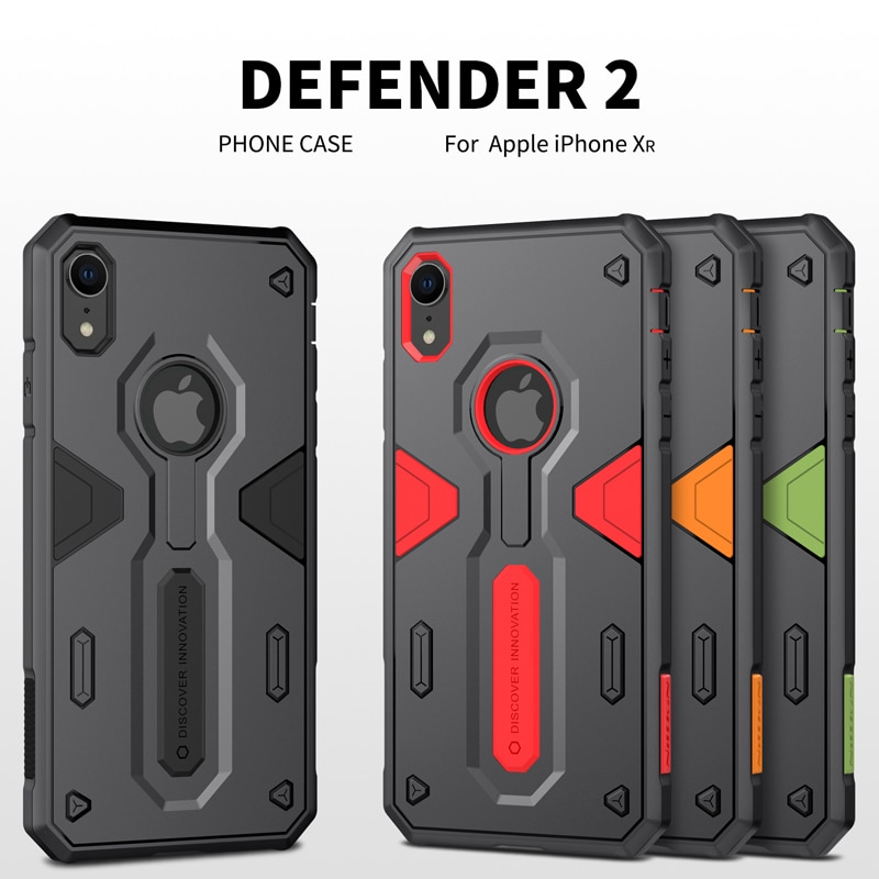 Carcasa para iPhone X XR XS MAX, iphone se 2020 Nillkin Defender 2, armadura a prueba de golpes, funda delgada para iPhone 7 8 Plus, protector resistente