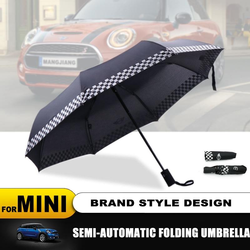 Полностью автоматический складной зонт от дождя с логотипом автомобиля для MINI Cooper S R50 R53 R56 R60 F55 F56 Clubman Roadster Paceman
