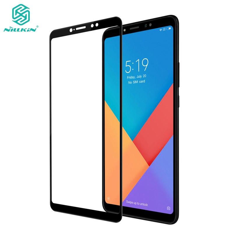 Para Xiaomi Mi Max 3 Glass Nillkin CP + 2.5D Protector de pantalla de cubierta completa para Xiaomi Mi Max 3 Vidrio Templado