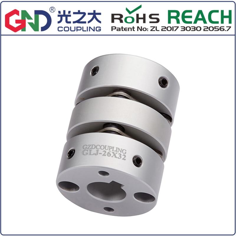 GLJ aleación de aluminio, doble diafragma, Serie de cable superior, acoplamientos flexibles del eje del motor paso a paso D56L64