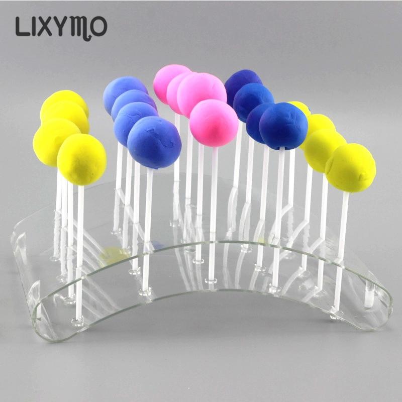 Tamanho m 20 buracos bolo pop lollipop chocolate pop stands/display/hodler/base/prateleira em forma de arco bakeware ferramentas de bolo acceserries