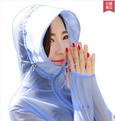 Ropa de playa envío gratis previene la ropa bask femenina de verano 2019 de manga larga ultradelgada transpirable con capucha larga M L XL XXL #7252