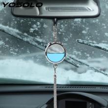 YOSOLO Car Air Perfume Air Freshener Auto Rear View Mirror Hanging Pendant Essential Oil Diffuser Air Cleaner Car Ornament