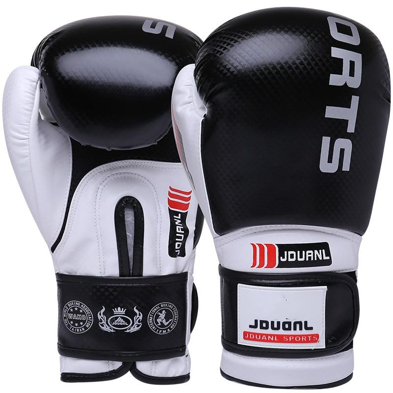 Guantes de boxeo para mujeres y hombres adultos de JDUanL calidad Muay Thai Sanda MMA Sparring artes marciales Wushu Mitts equipamiento de kickboxing DEO