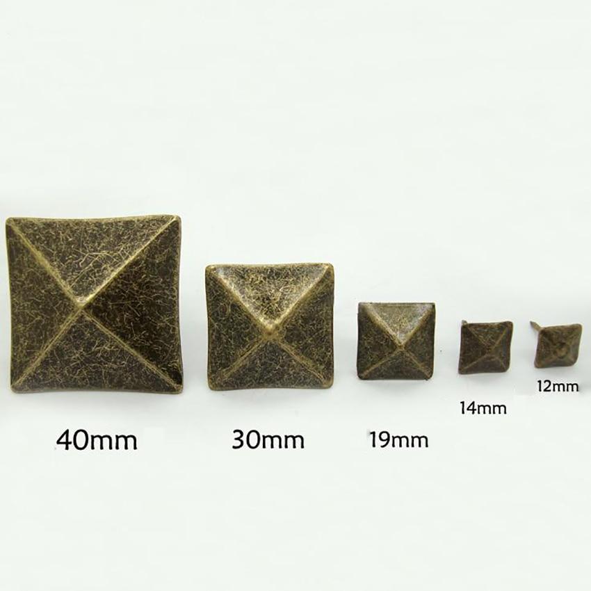 10PCS/LOT Antique Bronze Upholstery Nail Thumbtack Square Pushpin Doornail Hardware Jewelry Box Sofa
