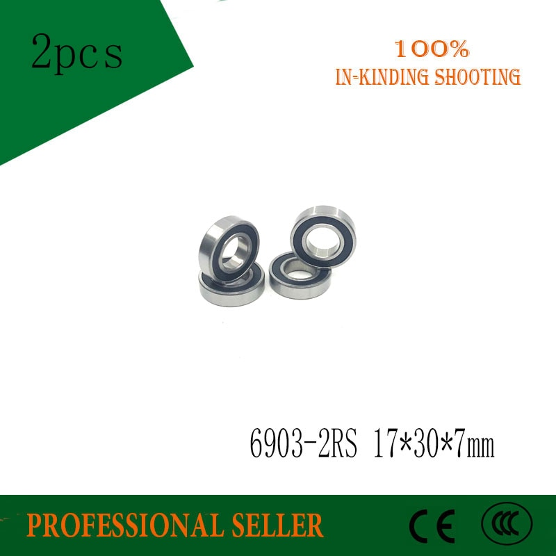 free-shipping-2pcs-6903-2rs-6903-rs-61903-2rs-deep-groove-ball-bearings-17-x-30-x-7mm-for-bicycle-part