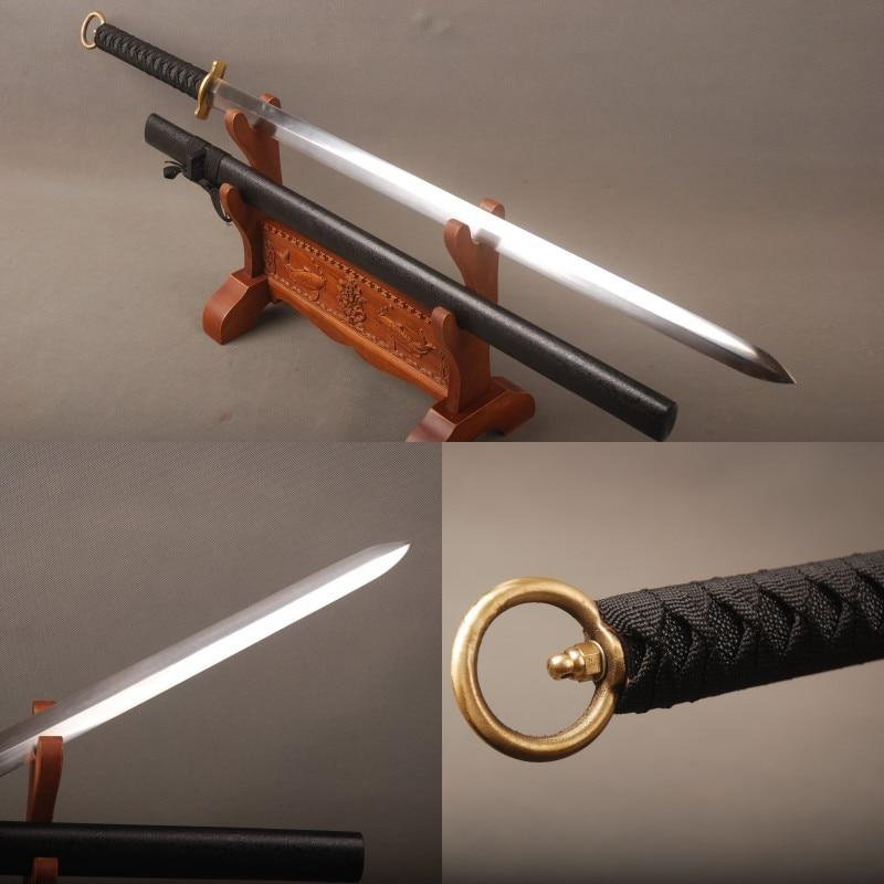 Fully Handmade Vintage Japanese Ninja Samurai Sword 1060 Carbon Steel Full Tang Straight Blade Knife Delicate Handicraft FCG0024