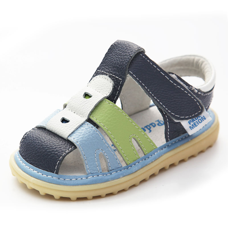 Genuine Leather Kids Sandals 2018 New Summer Boy Girl Sandals Comfortable Nonslip Baby Moccasins Shoes Children Soft Sole