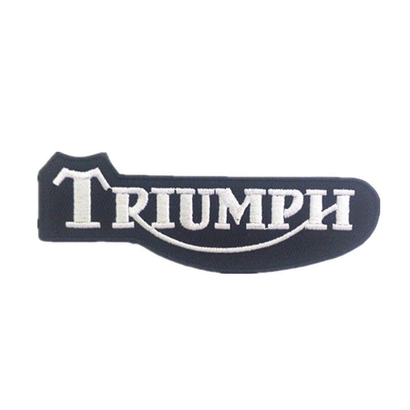 טריומף לוגו רקמת ברזל על תיקוני בגדי כובעי שקיות מדבקות applique