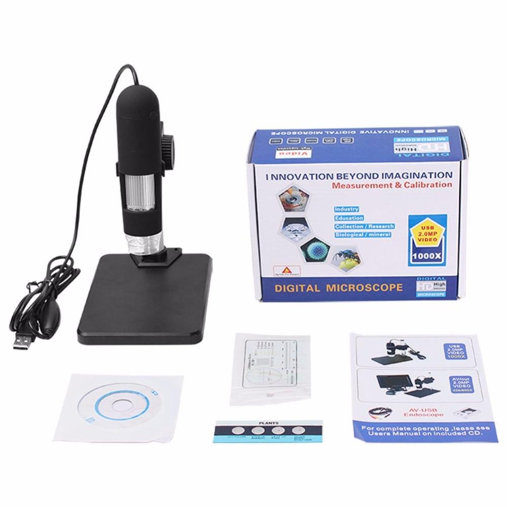 Lupa de microscopio Digital USB 1000x para mantenimiento de teléfonos móviles, herramienta de reparación de placa de circuito PCB de soldadura BGA SMT Watch
