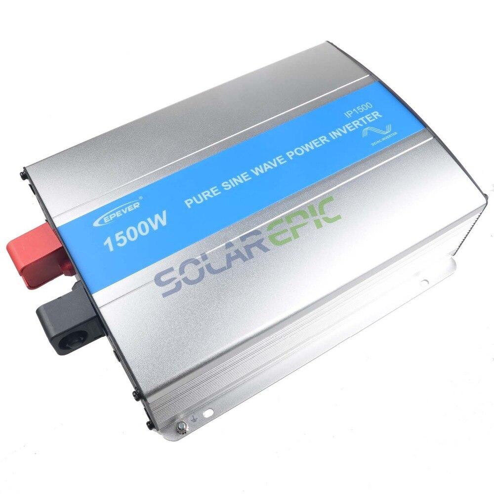 Inversor Epever de 1500W fuera de la red 12 V/24VDC AC110V a/220 V inversor de potencia de onda sinusoidal pura 1500W inversor Solar fuera de la red 50Hz/60Hz CE