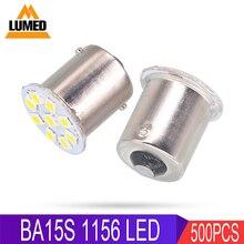 500x1156 BA15S P21W 2835 9 LED araba kuyruk ampul 12V otomatik gündüz çalışan sinyal ışığı 12V 24V