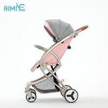 Bébé poussette ultra léger pliant peut sasseoir inclinable enfant haut paysage bébé parapluie chariots