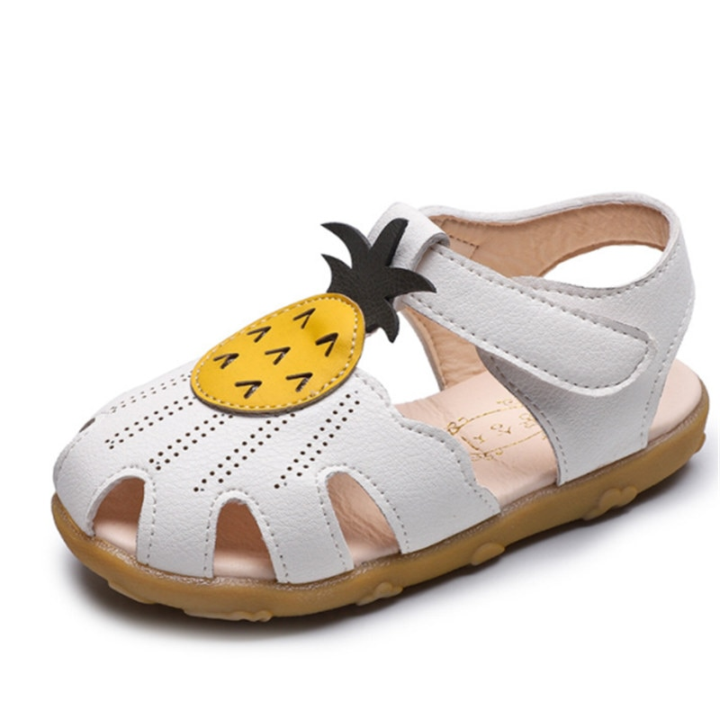 Sandalias de marca para niñas, sandalias de verano para niños pequeños, zapatos de playa, sandalias suaves bonitas con piñas para niñas, talla 21-30