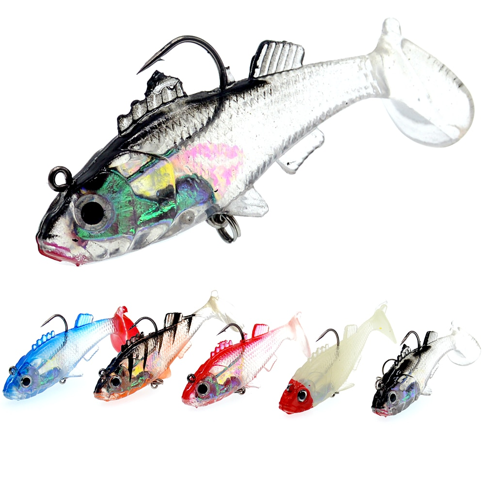 Sale Hot 2pcs/lot 8cm/15g soft lead fish fishing lures tackle bait bass hook