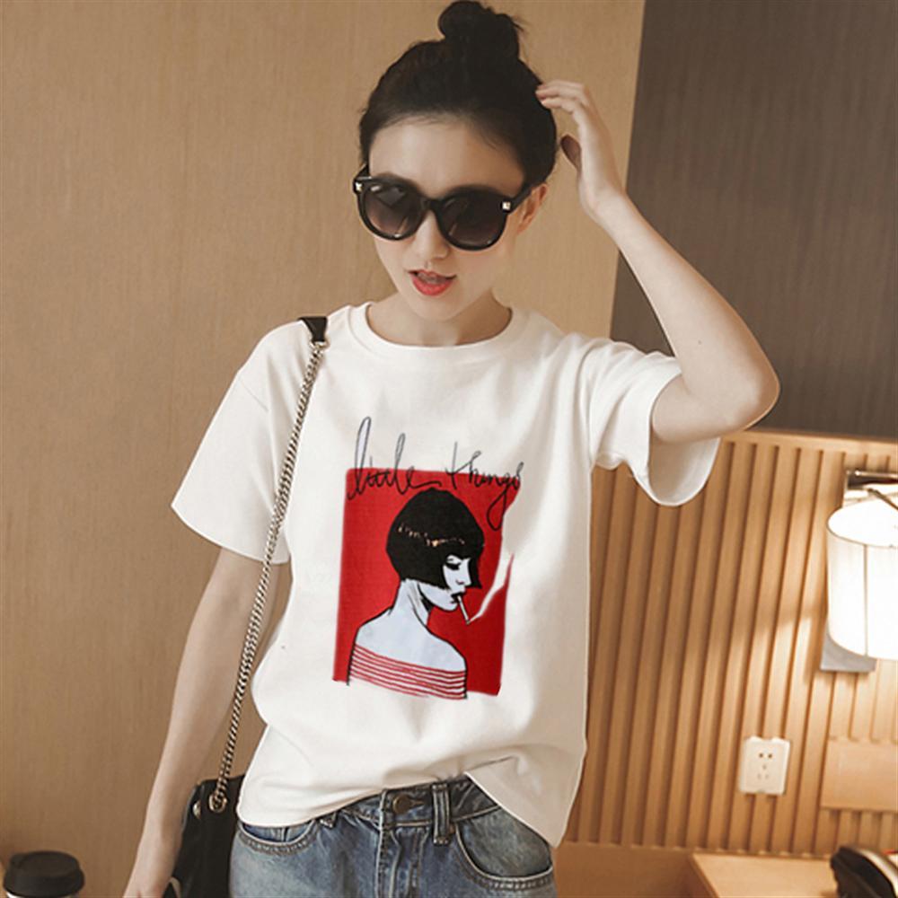Женская футболка с принтом, белая хлопковая Повседневная футболка для курения, лето 2019