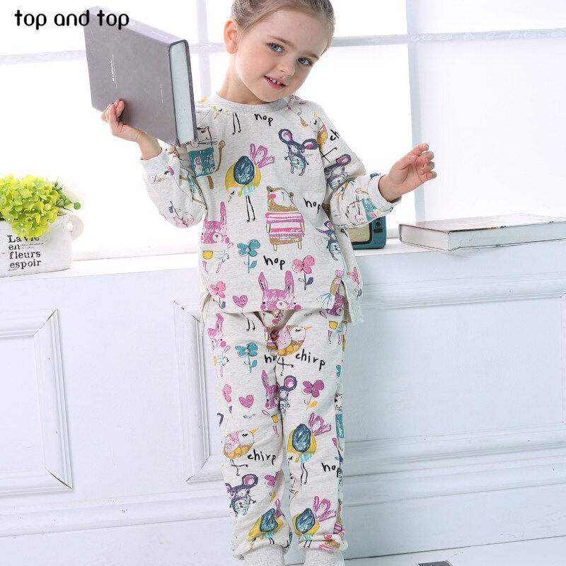 2017 spring autumn children girls clothing sets long sleeve  cartoon t shirt+ pants 2pcs/set kids clothes suit sprotswear