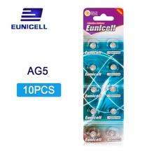 10 pièces AG5 AG 5 G5 393A LR48 LR754 15 193 LR48 D309 399 1.55 V 60 mAh Pile Bouton batterie